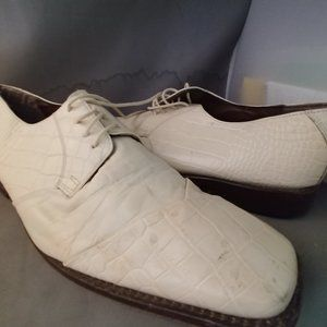 Stacey Adams Mens Size 11 1/2 White/Off White Dres